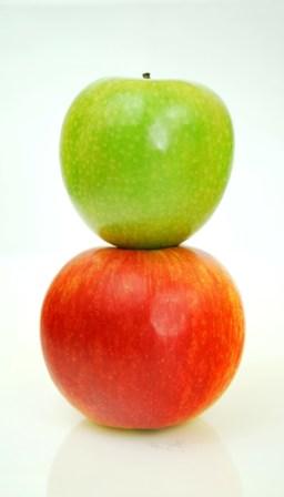 vláknina jablká